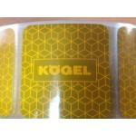 Bandă reflectorizantă KOGEL galben întrerupt 67.02.02