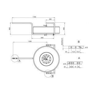 Suport roata rezervă - 385/65 R22.5