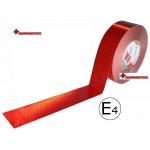 Bandă reflectorizantă roşu continu 67.03.03